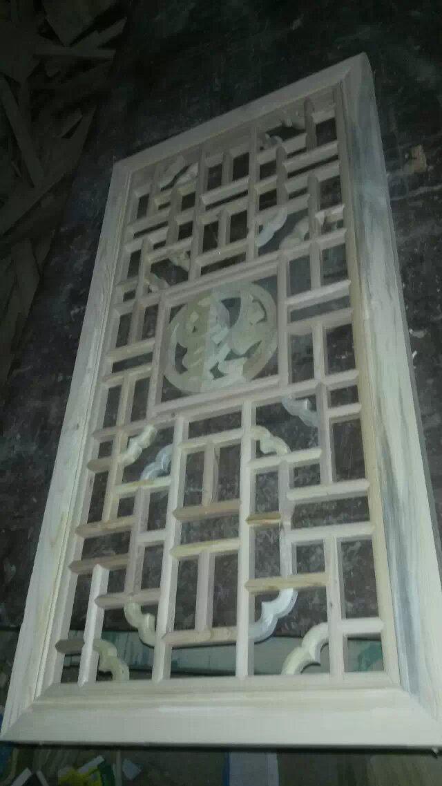 中式雕花木門_雕花木窗_花格窗扇