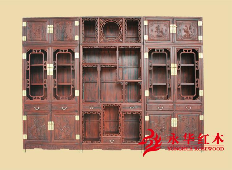 永华红木家具@明式红木书柜品牌家具