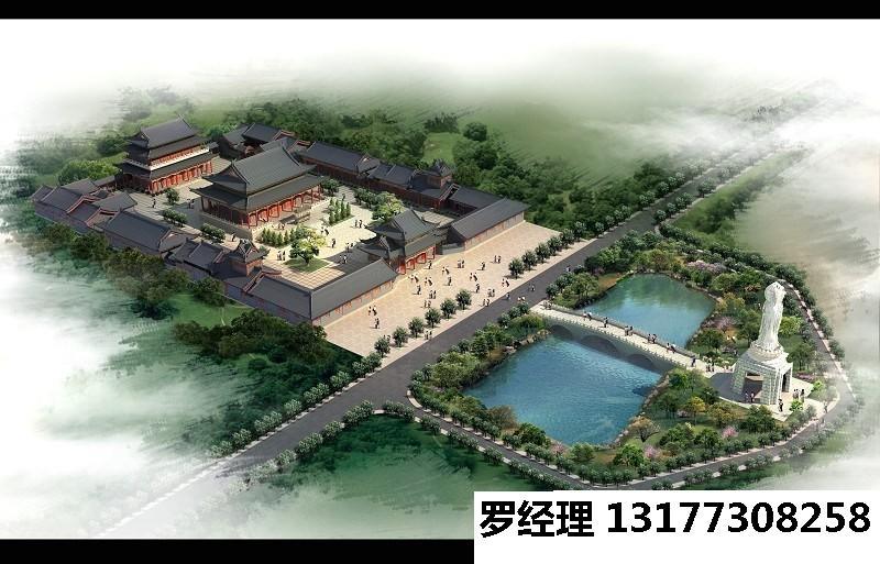 供应寺庙方案|寺院建筑鸟瞰图|庙宇设计