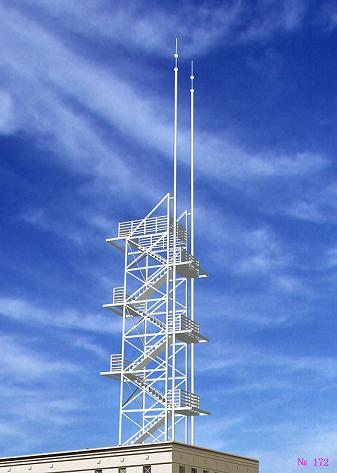 楼顶装饰避雷塔中电气设备的防雷措施