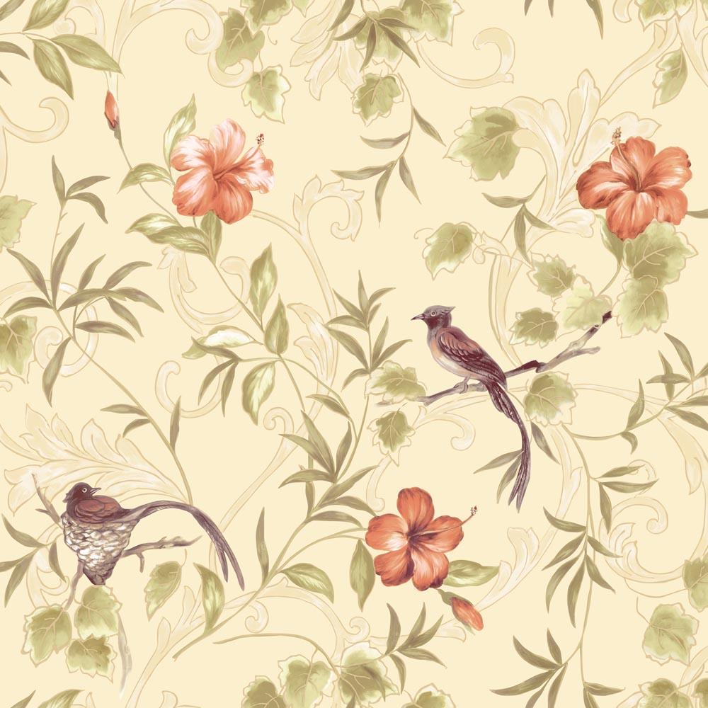 新中式风格纯纸-无缝墙布图片