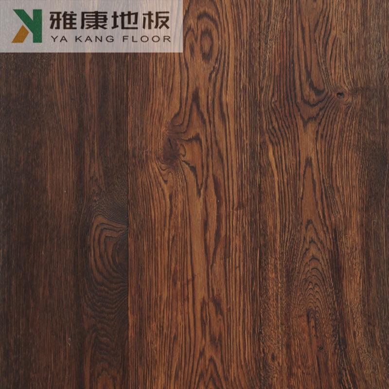 三层实木地板橡木木蜡油黑色仿古厂家直销