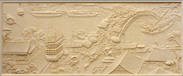 中式砂岩浮雕贴图图片