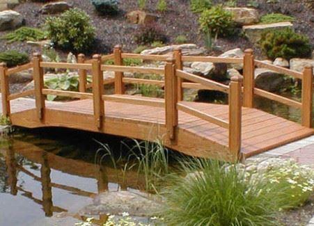 防腐木木桥 木桥梁 木拱桥