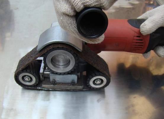 特别针对于不锈钢,铝,铁等金属构造的产品抛光及拉丝效果特别好.图片