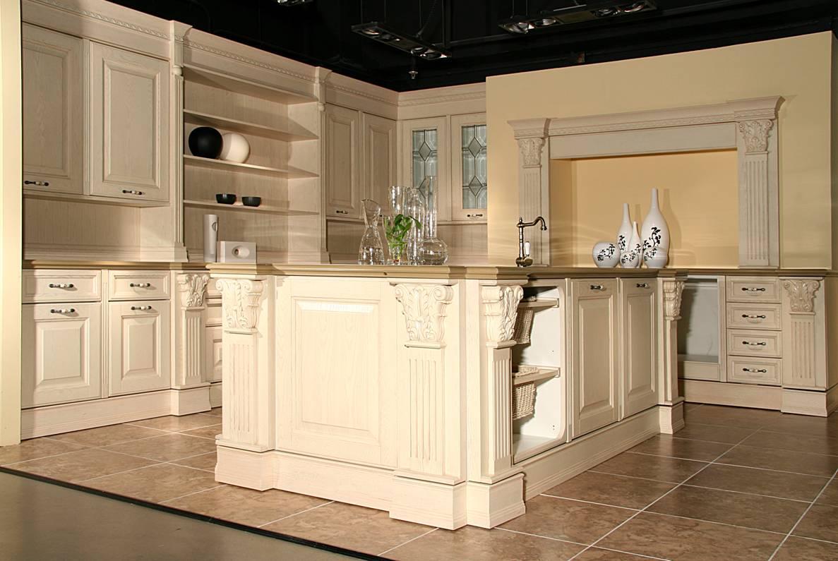 家居典范          橱柜 欧式; 实木橱柜  橱柜门板 实木家具  吸塑门