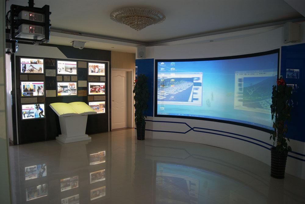 多媒体弧幕系统图片