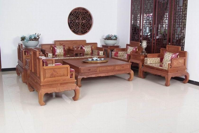 明清古典红木家具红木沙发客厅家具-【效果图,产品图