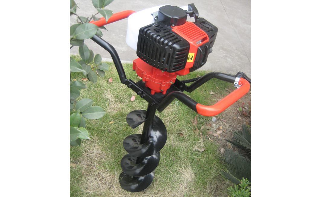 便捷手推式植树华丰地钻单人挖孔机挖坑机