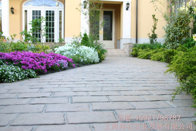 拜石供应青岛艺术压印混凝土-彩色压印地坪