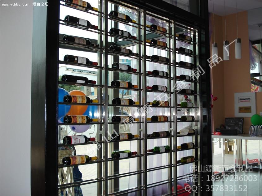 酒店,ktv不锈钢酒柜304 拉丝不锈钢酒架详细描述 高清图片