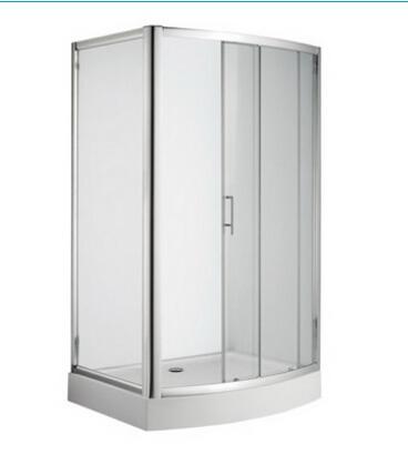 美标长弧型移门淋浴房(亮银色)