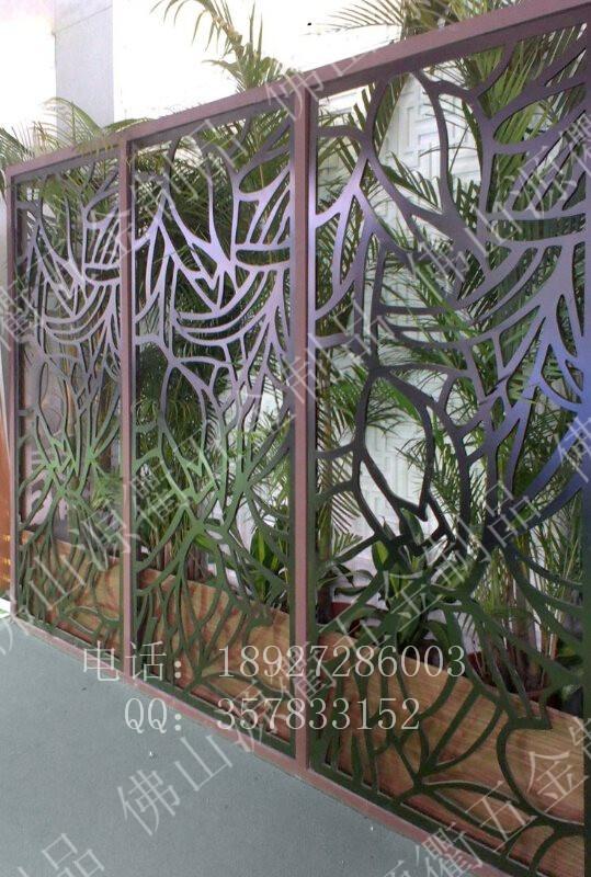 供应激光镂空雕花不锈钢隔断屏风不锈钢屏风