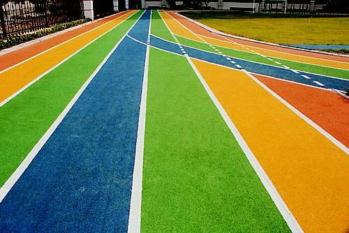 彩色塑胶跑道