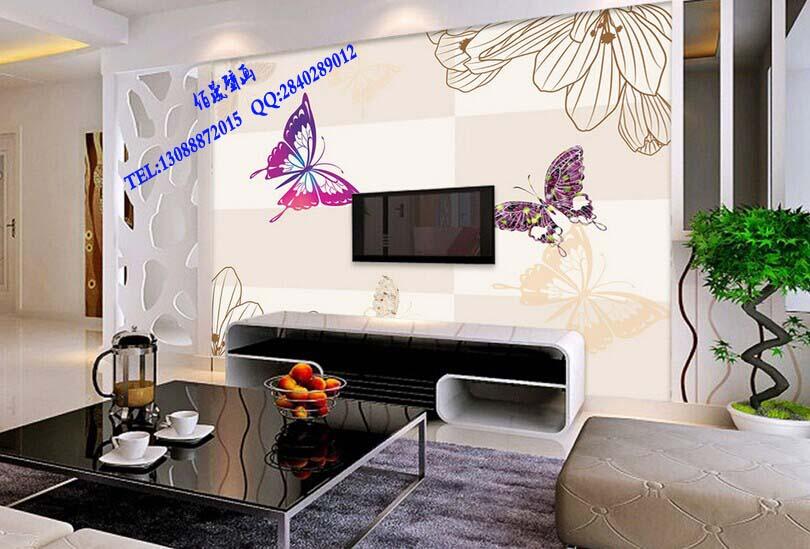 【家装客厅卧室电视背景墙壁画