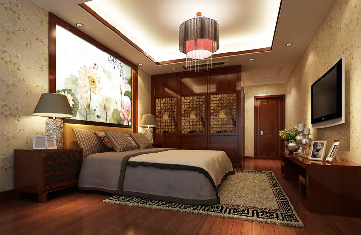 无纺壁纸 > 中式别墅客厅餐厅沙发墙纸壁画厂家定做   背景墙效果图图片