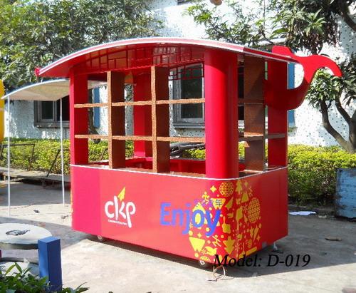 广州主题公园售货亭,户外移动售货车-垃圾桶