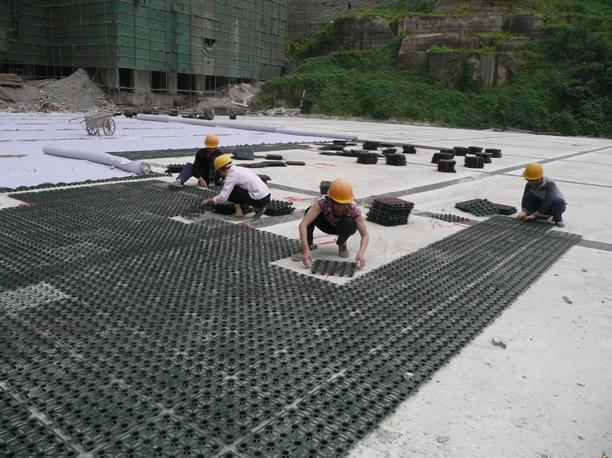 广州厂家塑料蓄排水板 屋顶花园排水板