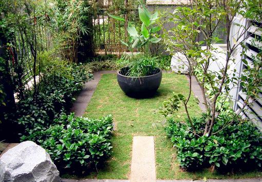 武漢別墅私家花園設計小花園建造