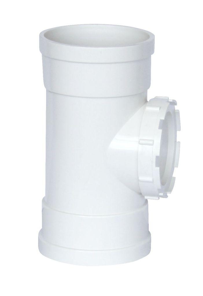 PVC立管检查口 排水PVC管件