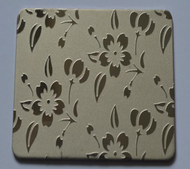 【钛金不锈钢蚀刻小花纹板