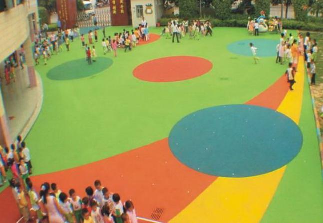 攀枝花米易幼儿园操场塑胶地面epdm塑胶场地