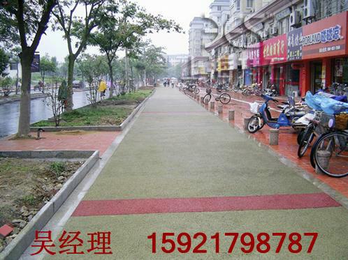 供应桂林南宁露骨料透水地坪-彩色透水石