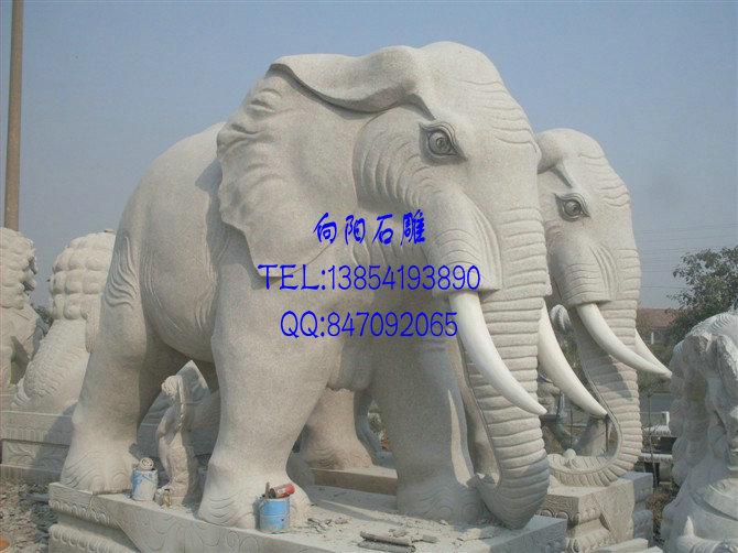 陇南厂家直销|母子象|招财象|石雕大象