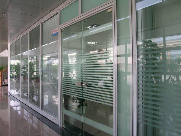 【隔断铝镁合金隔断高隔间办公室玻璃隔断】图片