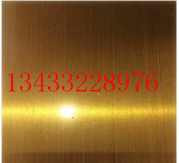 304不锈钢拉丝板 拉丝黄钛金不锈钢板厂家