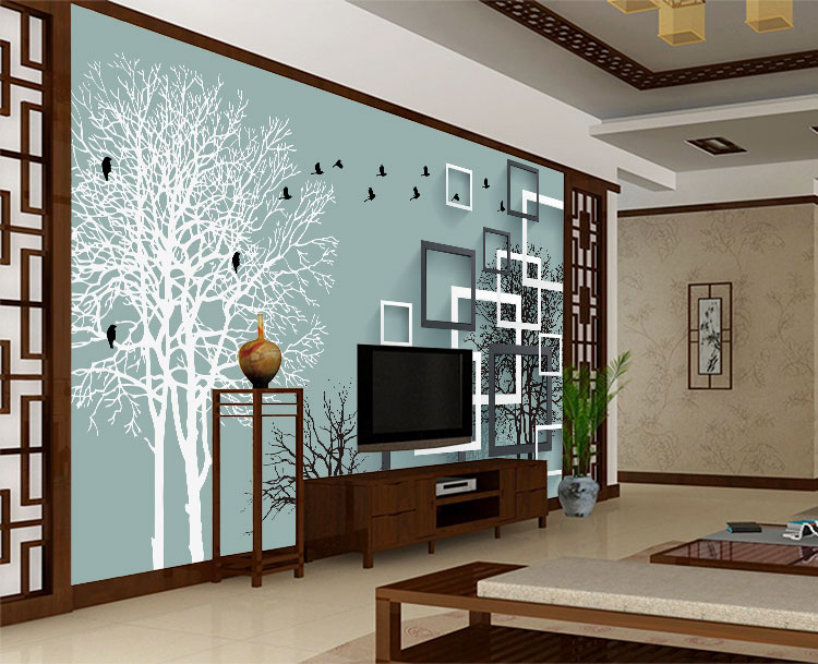 无缝墙布 卧室沙发电视背景墙 个性定制壁画