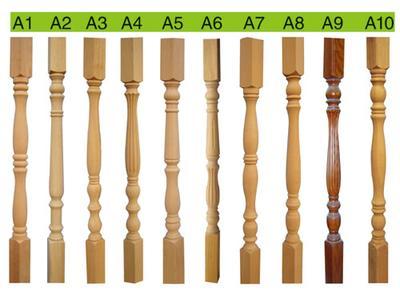 供应定做欧洲进口榉木楼梯立柱 楼梯扶手