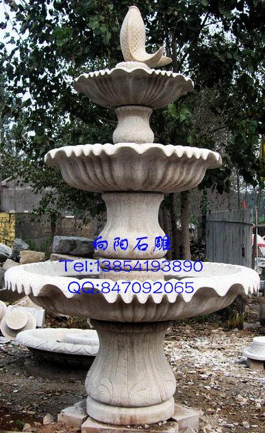 大连石雕喷泉最新报价|石雕黄锈石喷泉厂家