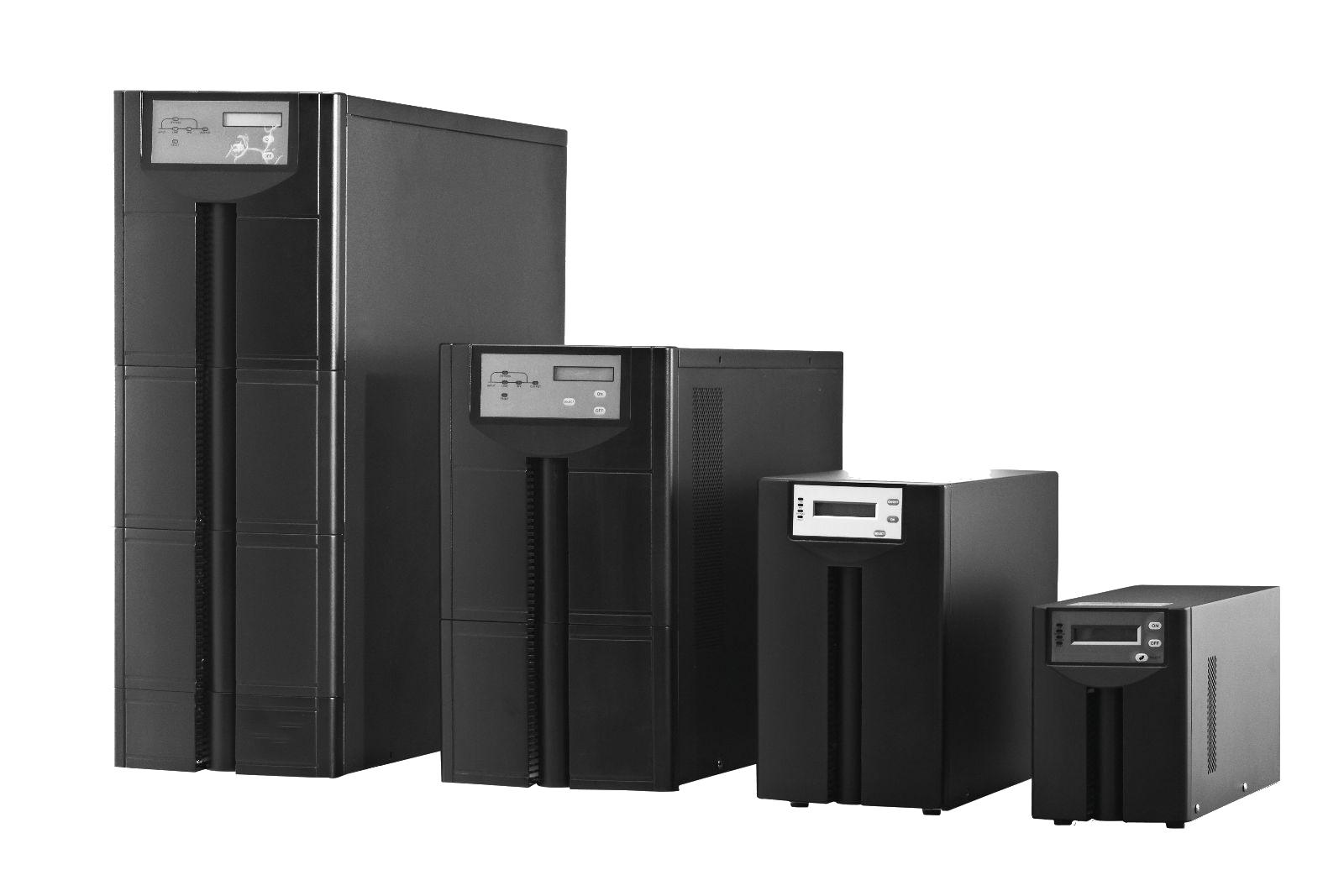 特殊规格可定制 UPS( Uninterruptible Power System ),即不间断电源,是一种含有储能装置,以逆变器为主要组成部分的恒压恒频的不间断电源。主要用于给单台计算机,计算机网络系统或其它电力电子设备提供不间断的电力供应。当市电输入正常时,UPS 将市电稳压后供应给负载使用,此时的UPS电源就是一台交流市电稳压器,同时它还向机内电池充电;当市电中断时, UPS 立即将机内电池的电能,通过逆变转换的方法向负载继续供应220V交流电,使负载维持正常工作并保护负载软,硬件不受损坏。 UP