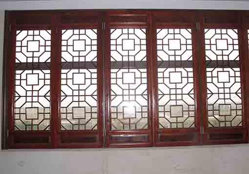 【广东广州中式推拉窗古典木窗木雕花窗定做厂家嘉