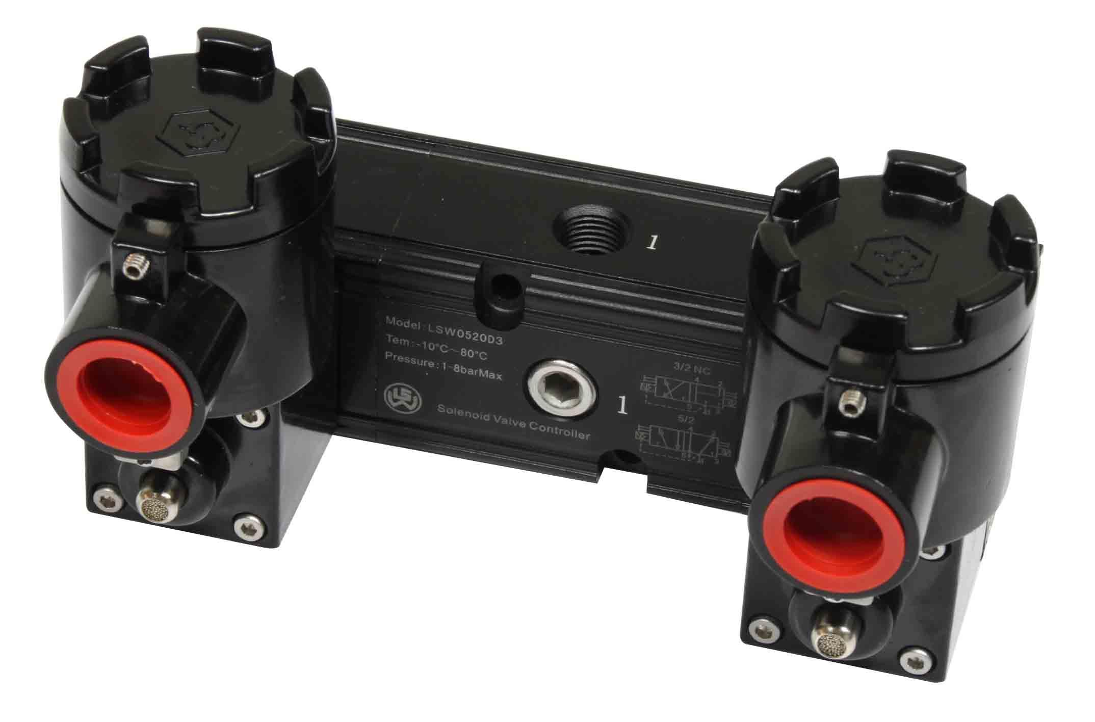 双电控两位五通防爆电磁阀图片
