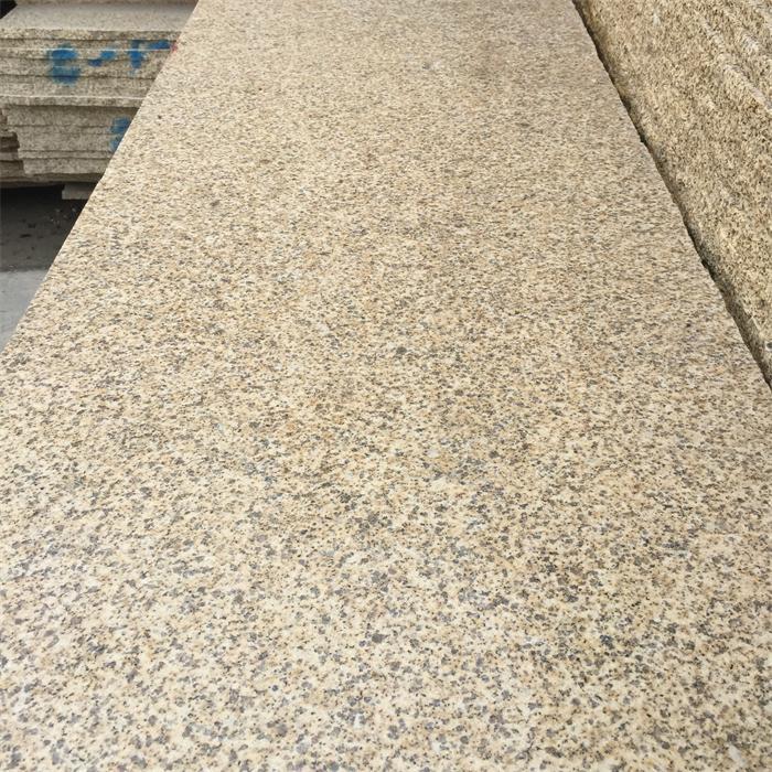 高质量花岗岩板材黄金麻 随州黄金麻石材