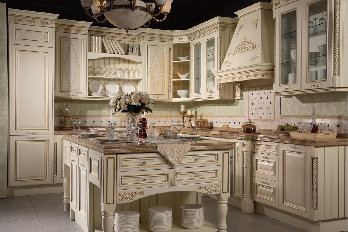 供应巴伦斯精品实木橱柜品牌红樱桃整体厨房图片