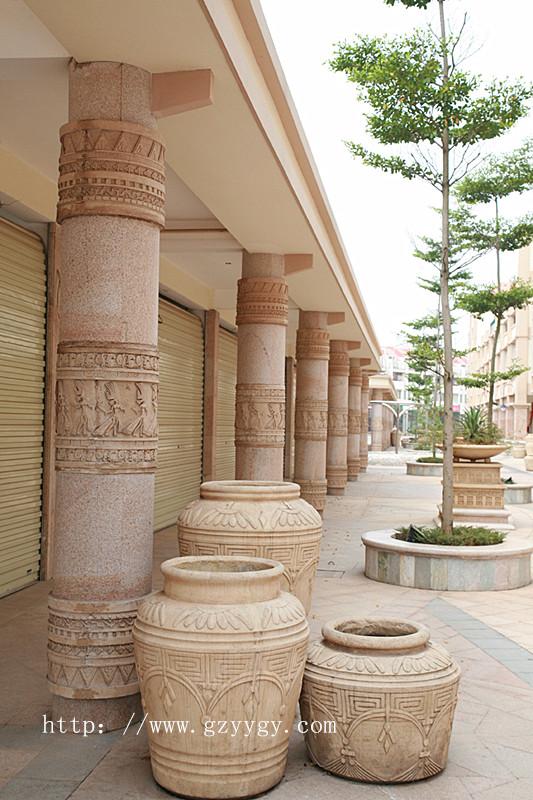 欧式柱子仿砂岩柱子雕塑 砂岩柱子雕塑图片