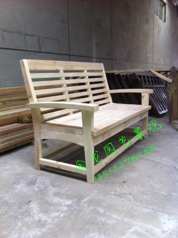 天津防腐木公园长椅 花园摇椅 防腐木秋千 户外桌椅采用天然实木