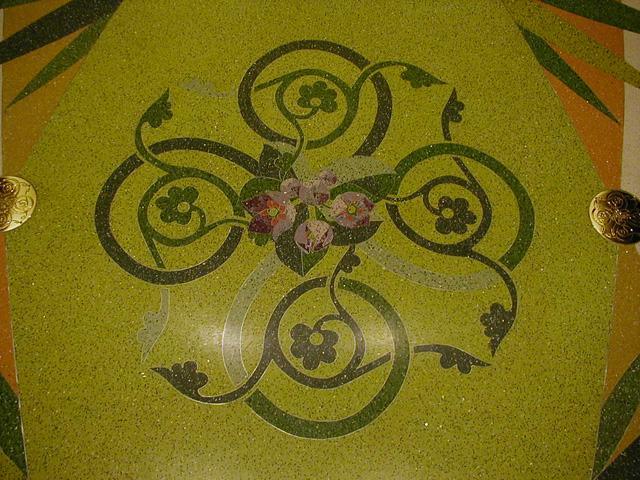 水磨石地坪铜条花 -  铜花图案    定做铜花   铜字