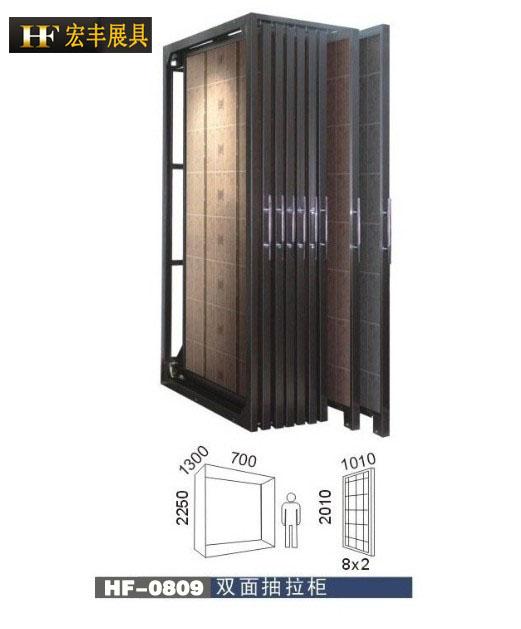 供应瓷片推拉展示柜,模拟间瓷砖展柜