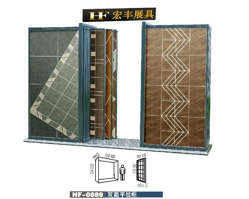 供应优惠定制推拉门瓷砖展柜,双面贴砖