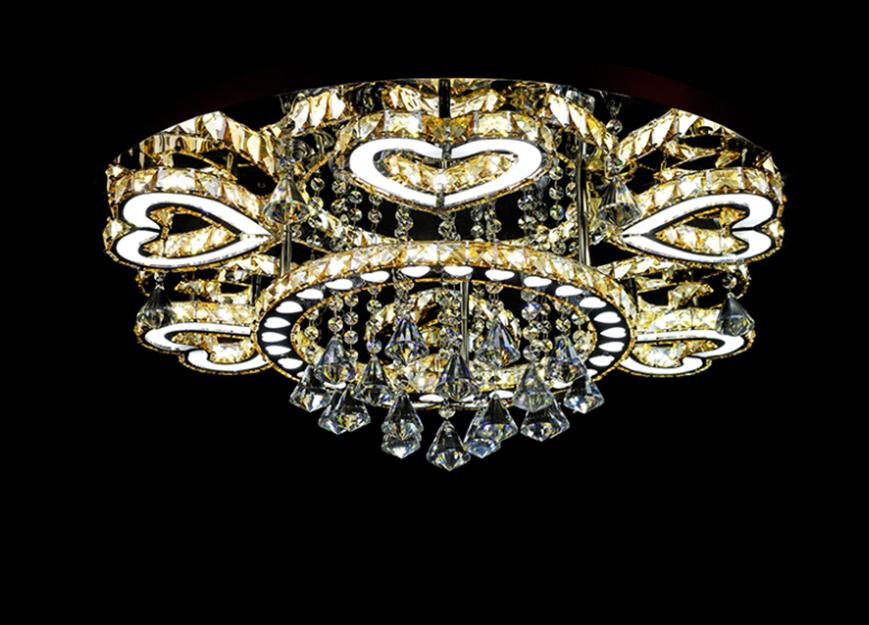 现代led吸顶灯,线切割水晶心形线切割卧室灯