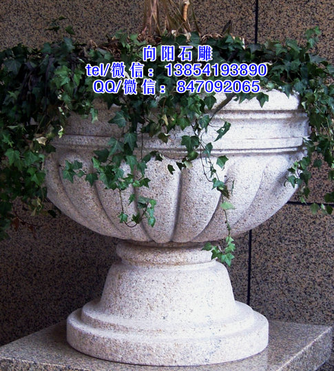 商洛石雕花盆厂家|石雕花钵价格|景观花钵