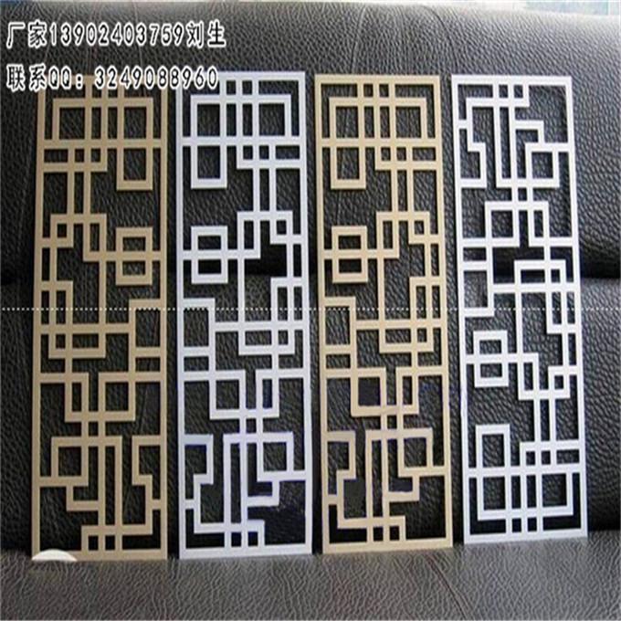 杭州外墙装饰木纹型材格栅铝窗花隔断