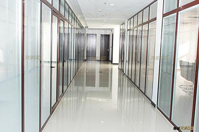 供應辦公室高隔斷內置百葉中空玻璃
