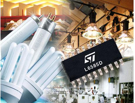 st推出高度集成单片荧光灯电子镇流器
