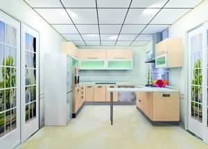 简约风格开放式吧台厨房设计(图)