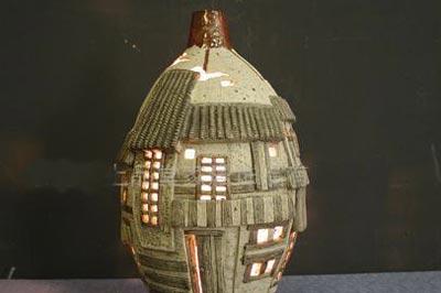 薄胎瓷灯罩复古陶瓷灯 圆古典元宵节梦